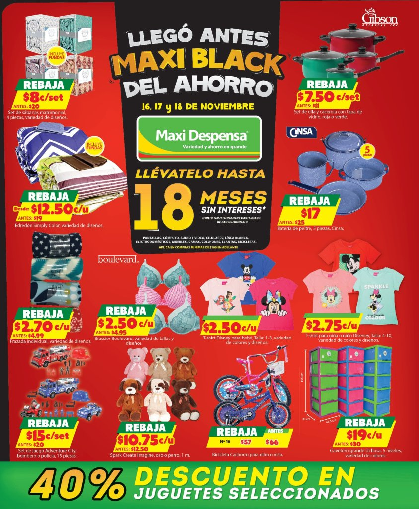 Maxi Despensa ofertas BLACK FRIDAY 2018 juguetes