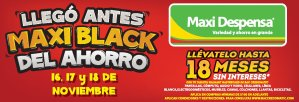 Ofertas Black Friday 2018 MAXI DESPENSA
