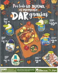 Ofertas PAVOS super selectos thanks given day 2018