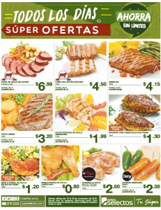 Ofertas super selectos thanks given day 2018
