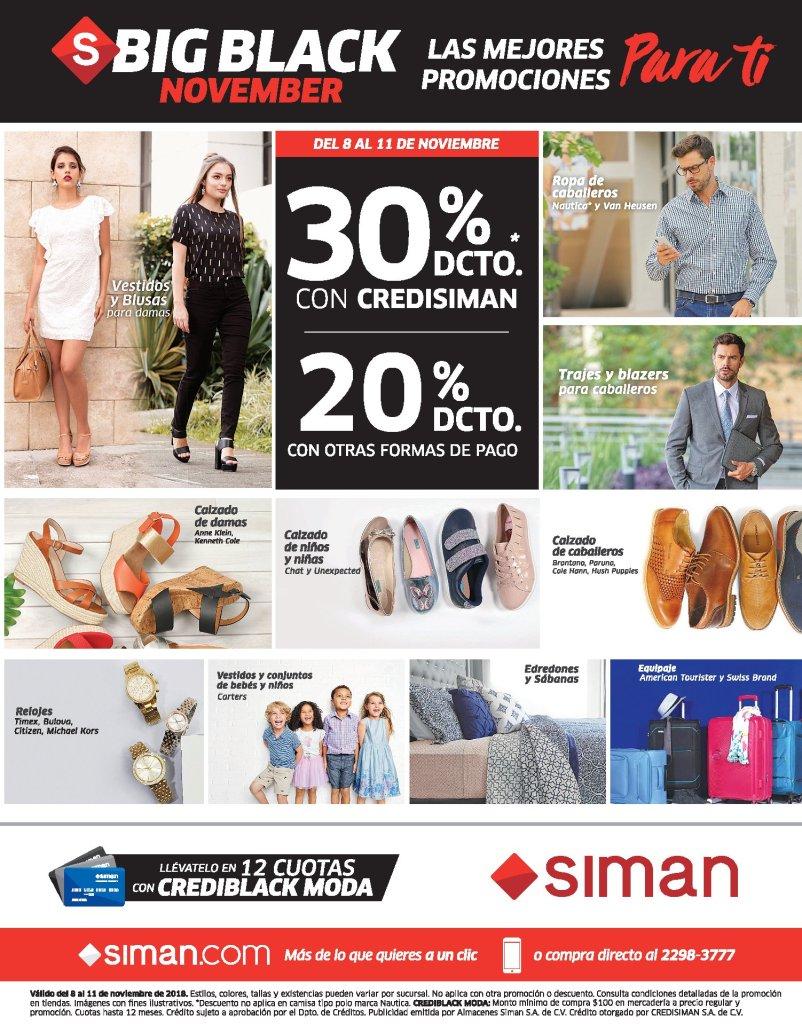 Promociones BLACK NOVEMBER 2018 de Almacenes SIMAN