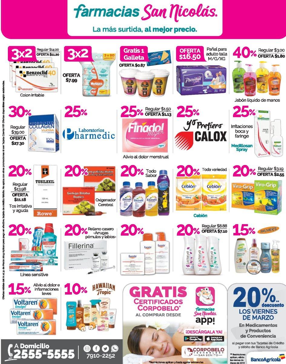 Farmacias San Nicolas Ofertas Marzo 2019