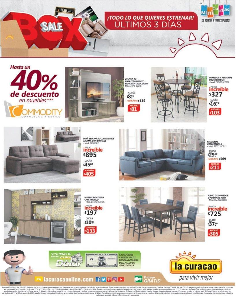 Fin de mes JUNIO la curacao ofertas muebles