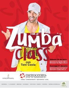 Tour Zumba Class junto a Toni Costa [Metrocentro]