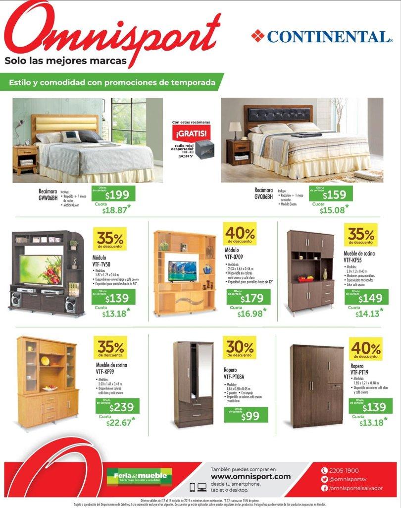 Omnisport ofertas muebles y camas fin de semana 12jul19