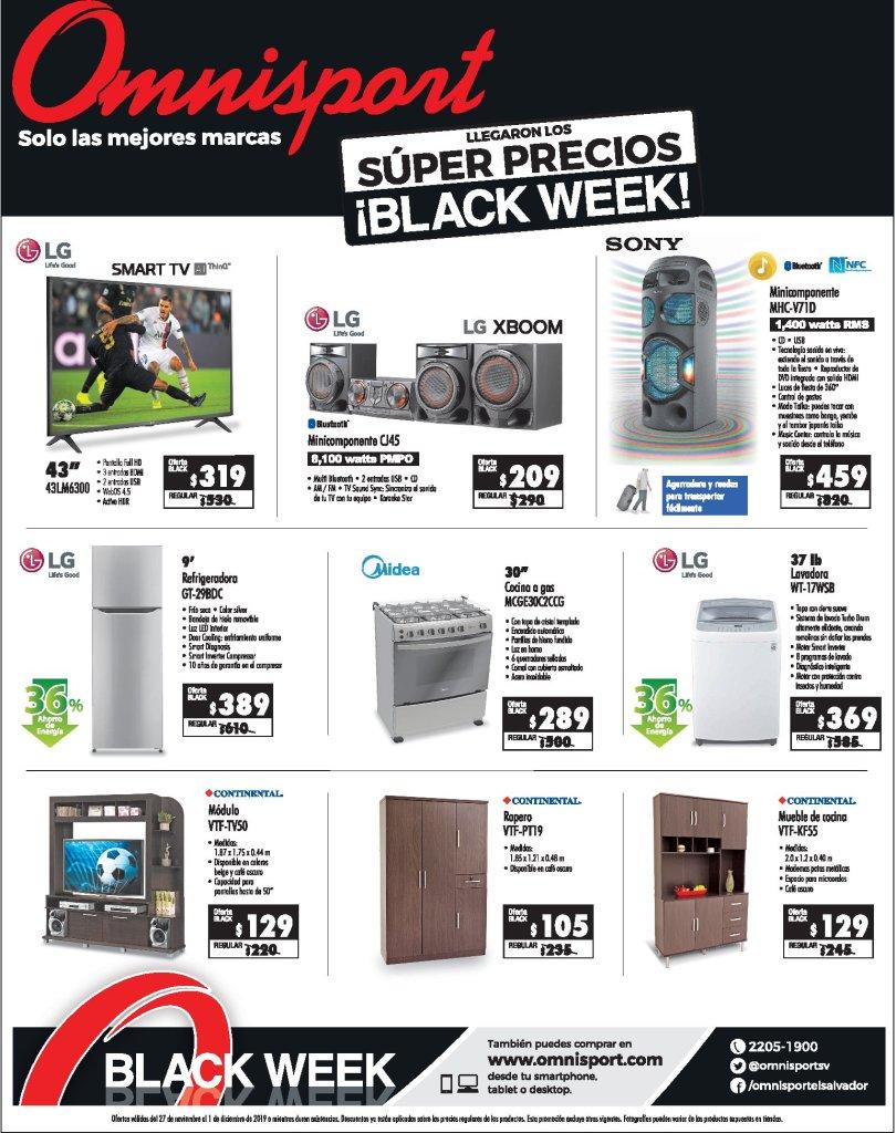 Almacenes OMNISPORT super precios black week - 27nov19