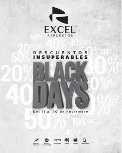 Black Days 2019 repuestos para tu carro