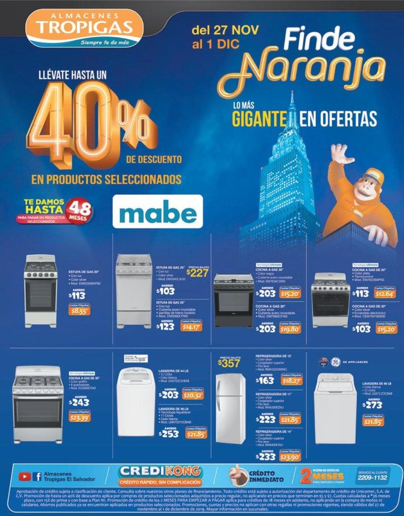 Cocinas y refrigeradoras ofertas tropigas - 27noc19