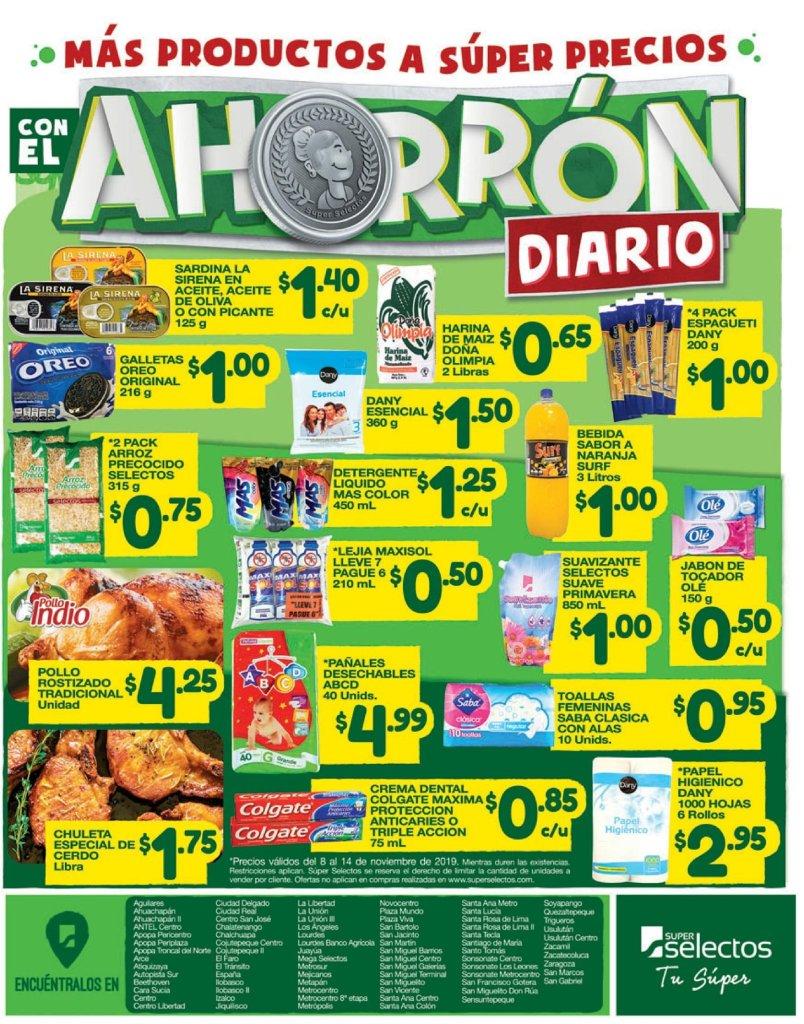 DAILY savings super selectos el salvador 08nov19