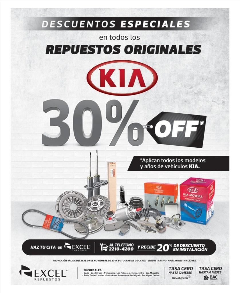 Descuentos BLACK en repsuestos para marca KIA