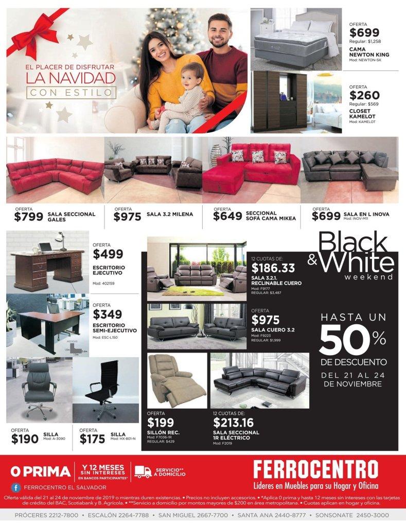 Disfruta la navidad con precios blackfriday furniture ferrocentro 2019