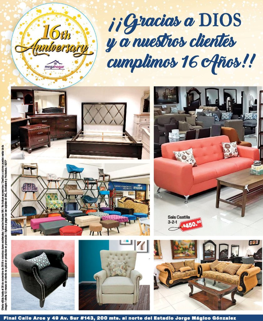 Furniture MEGA HOGAR el salvador savings - 22nov19