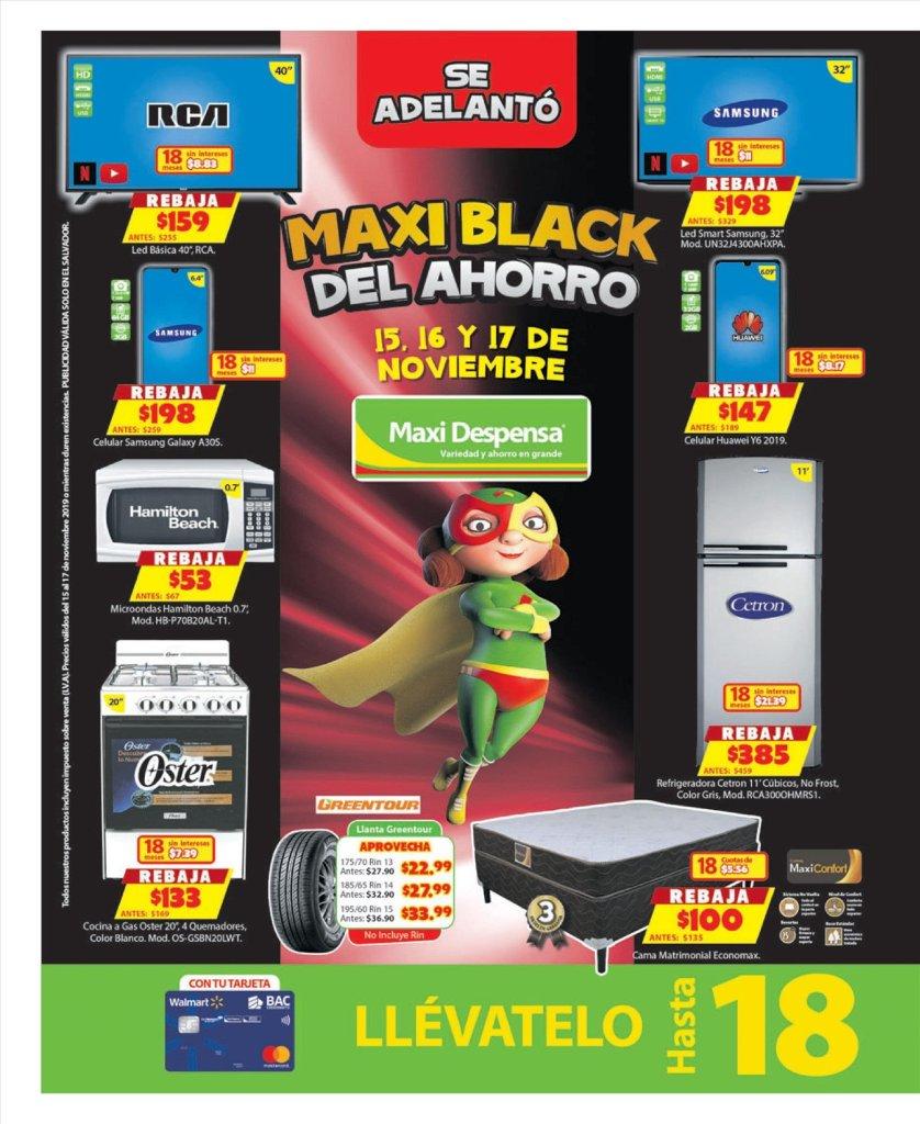 Ofertas de electrodomesticos en el salvador black friday 2019