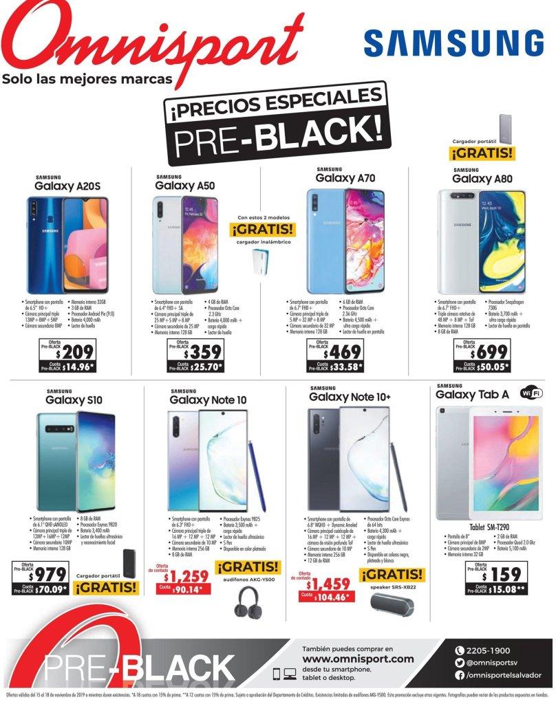 Precios BLACK en electronics samsung omnisport sv 2019