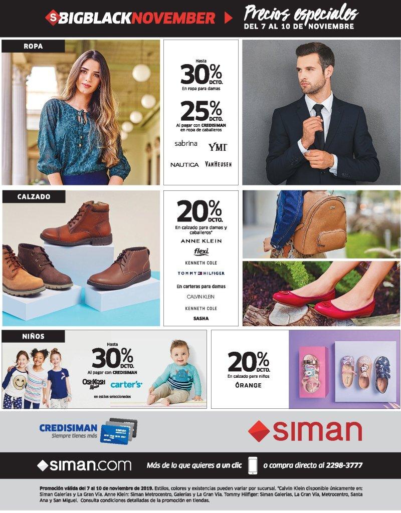 Precios especiales SIMAN black friday novemeber 2019