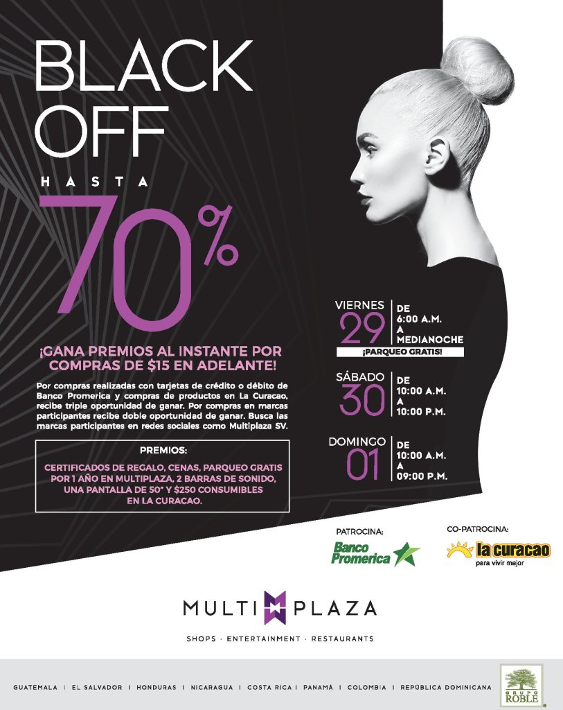 Semana-de-promociones-BLACK-FRIDAY-OFF-2019-Multiplaza-el-salvador