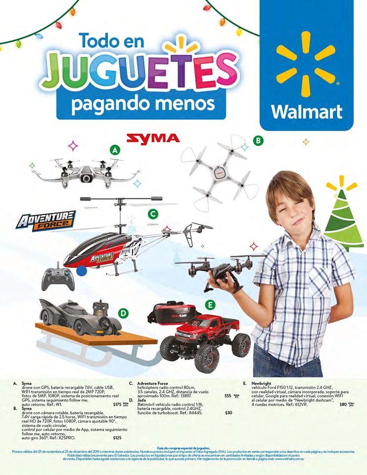 Catalogo de juguetes WALMART el salvador Navidad 2019