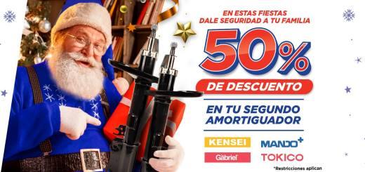 Santa Claus respuestos para carros amortiguadores navidad 2019