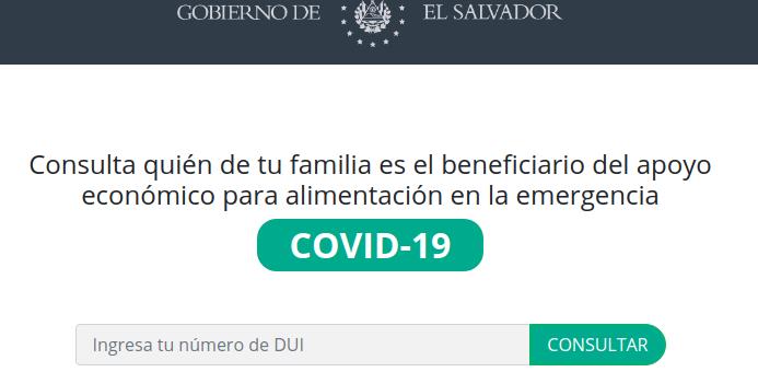 covid-19 subsidio 300 dolares el salvador