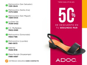Zapaterias ADOC 50% OFF al comprar online