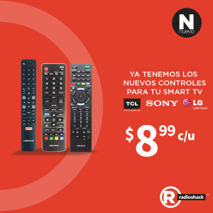 Compra Control Remoto para tu SMART TV