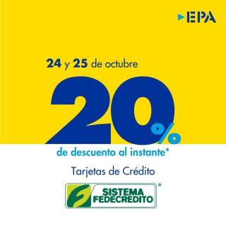 Fin-de-semana-EPA-con-descuento-sistema-fedecretito-24-y-25-octubre-2020