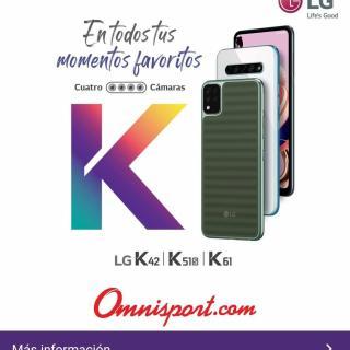 Precio telefonos moviles LG omnisport el salvador noviembre 2020