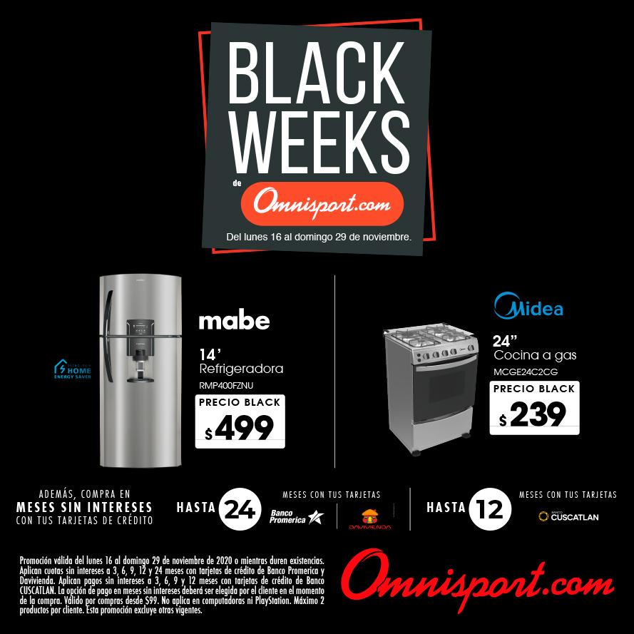 precios electrodomesticos omnisport black friday 2020