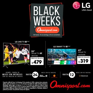 precios televisores omnisport black friday 2020