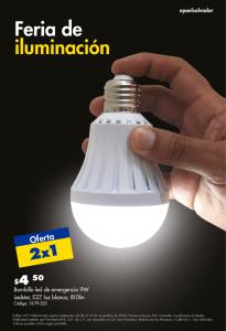Promocion 2x1 iluminacion led ferrteria epa noviembre 2020