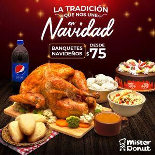 Mister-Donut-el-salvador-Promocion-navidad-2020-PAVO-HORNEADO