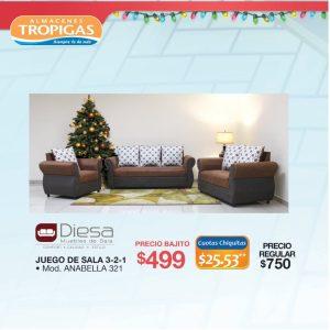 Promociones en salas muebles almacenes tropigas - 08dic20