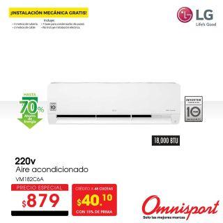 Oferta aire acondicionado LG inverter almacenes omnisport sv 2021