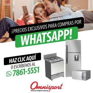 Promociones y ofertas exclusivas al comprar por whatsapp en almacenes omnisport el salvador - octubre 2021