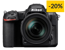 Kit Máquina Fotográfica Reflex NIKON D500 + 16-80mm F2.8-4 ED VR (20 MP – Sensor: APS-C – ISO: 100 a 51200)