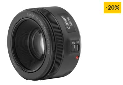 Objetiva CANON EF 50MM F1.8 STM (Encaixe: Canon EF – Abertura: f/22 – f/1.8)