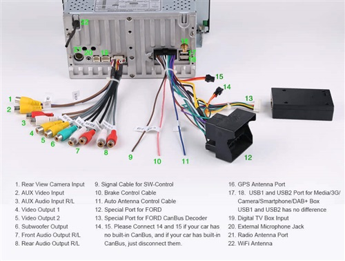 And X 13 Motor Wiring Diagram Wire Colors Radio Para Ford Focus 2007 2010 Con Android Y Wifi