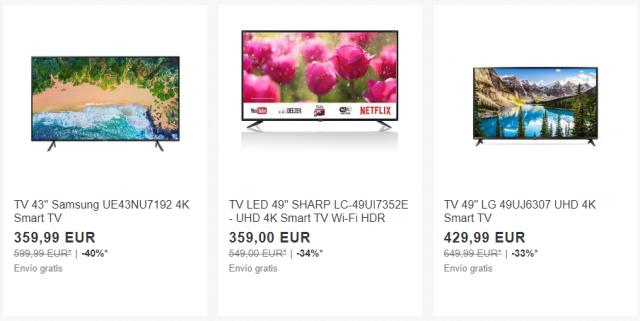 televisores ebay