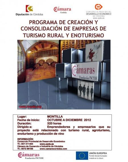 Programa de creación y consolidación de empresas de turismo rural y enoturismo en Córdoba