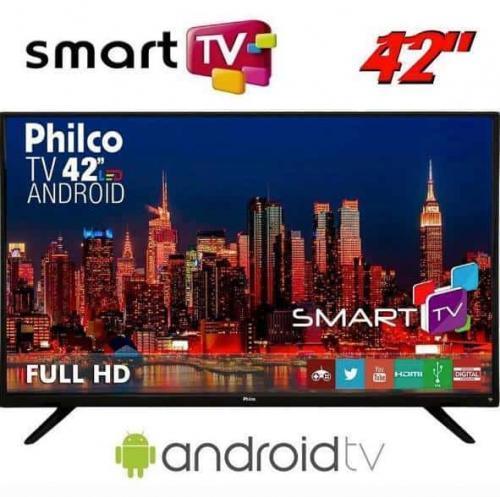 4730023ea Smart TV LED 42″ Philco PH42F10DSGWA Full HD com Conversor Digital 2 HDMI 2  USB
