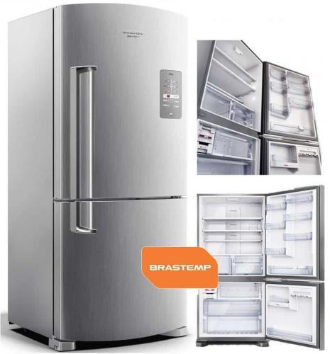90f2665bc Geladeira Brastemp Frost Free Inverse 573 litros cor Inox com Smart Bar –  BRE80AK