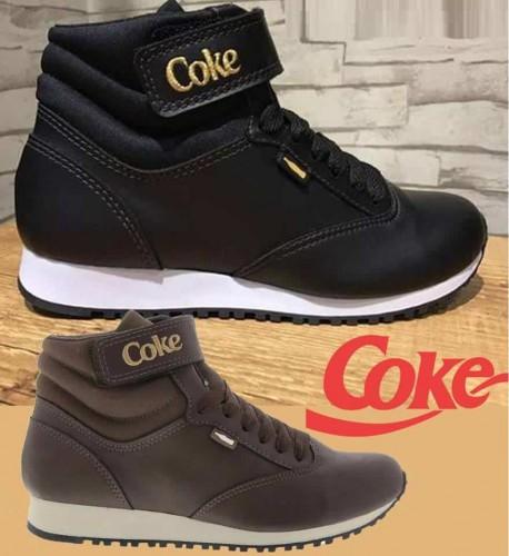 6da93d452d0 Tênis Cano Alto Coca-Cola Harper - Branco Marrom – Ofertinha Promoções