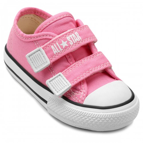 79269c009ac Tênis Infantil Converse All Star CT Border 2 Velcros Baby - Rosa ...