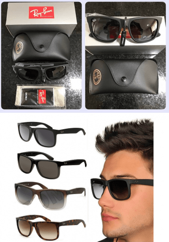 Óculos de Sol Ray Ban Justin RB4165 Preto Fosco – Ofertinha Promoções 322a9514f1