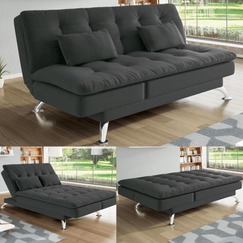 b7842d6f6 Sofá-cama Suede Reclinável Linoforte – Jade – Ofertinha Promoções