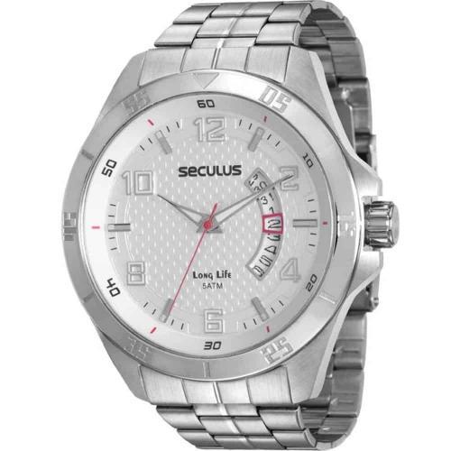 357604e3c85 Relógio Seculus Masculino Long Life 20469G0SVNA2 – Ofertinha