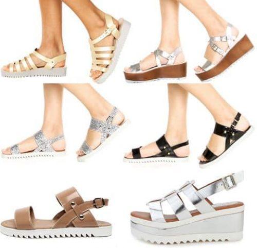 Sandálias Dafiti Shoes Flatformns e Tratoradas – Ofertinha Promoções 61021b27d55