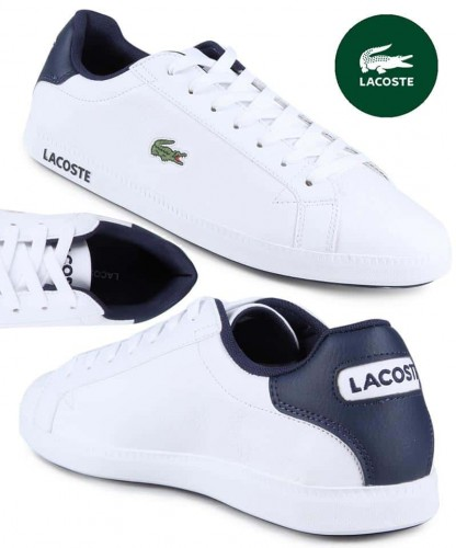 6273ed92d94 Tênis Couro Lacoste Gradt Lcr3 Bkbk Masculino - Branco – Ofertinha ...