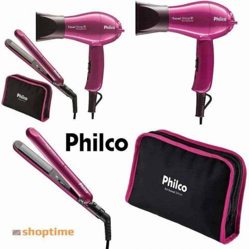 0169155ce Kit Travel Shine Bivolt Secador + Prancha - Philco – Ofertinha Promoções