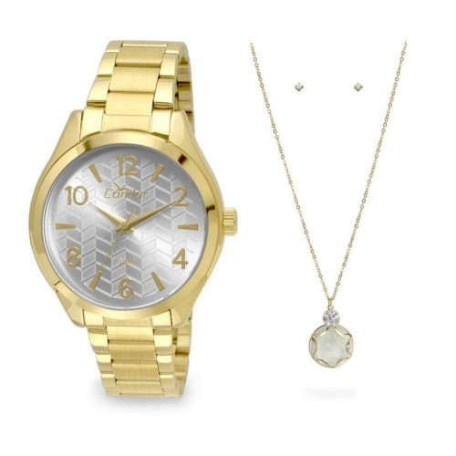 82b83db9fe9 KIT Relógio Condor Feminino Chevron – Ofertinha Promoções